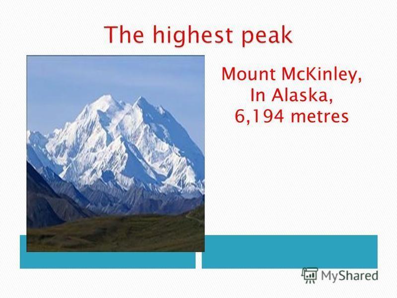 Mount McKinley, In Alaska, 6,194 metres