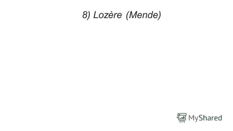 8) Lozère (Mende)