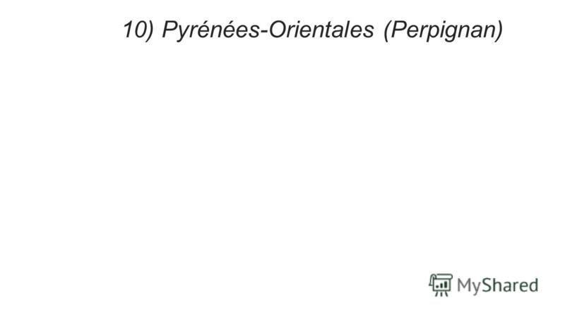 10) Pyrénées-Orientales (Perpignan)
