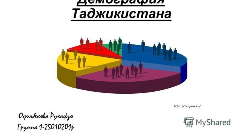 Демография Таджикистана Одилбекова Рухафзо Группа 1-25010201 р