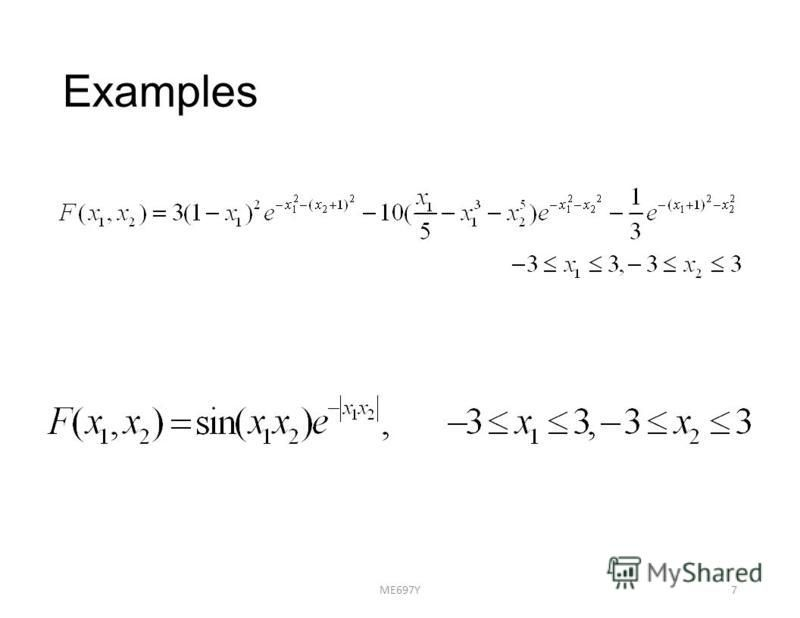 Examples ME697Y7