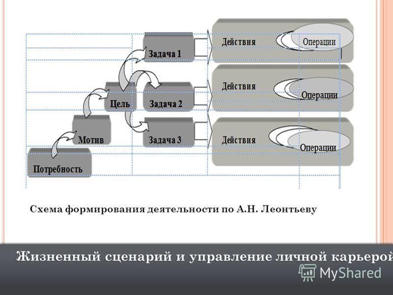 Жизненный сценарий и управление личной карьерой Схема формирования деятельности по А.Н. Леонтьеву