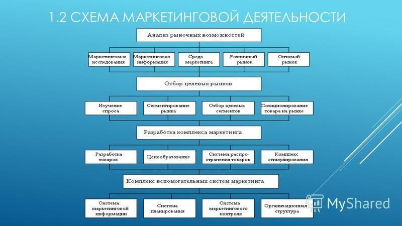 1.2 СХЕМА МАРКЕТИНГОВОЙ ДЕЯТЕЛЬНОСТИ