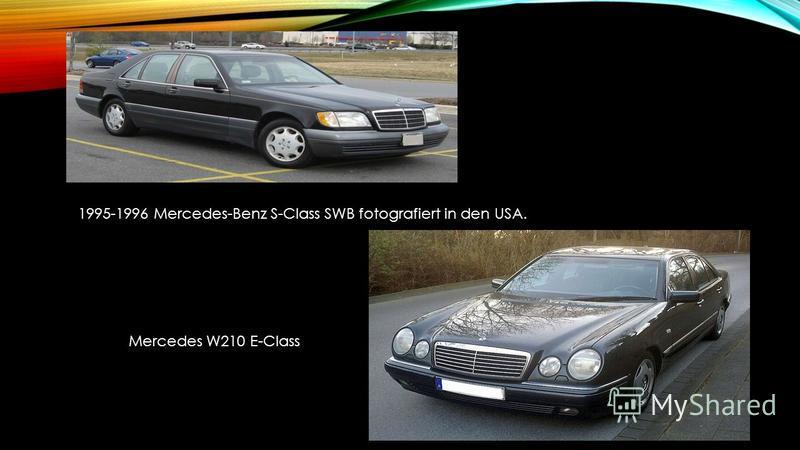 1995-1996 Mercedes-Benz S-Class SWB fotografiert in den USA. Mercedes W210 E-Class