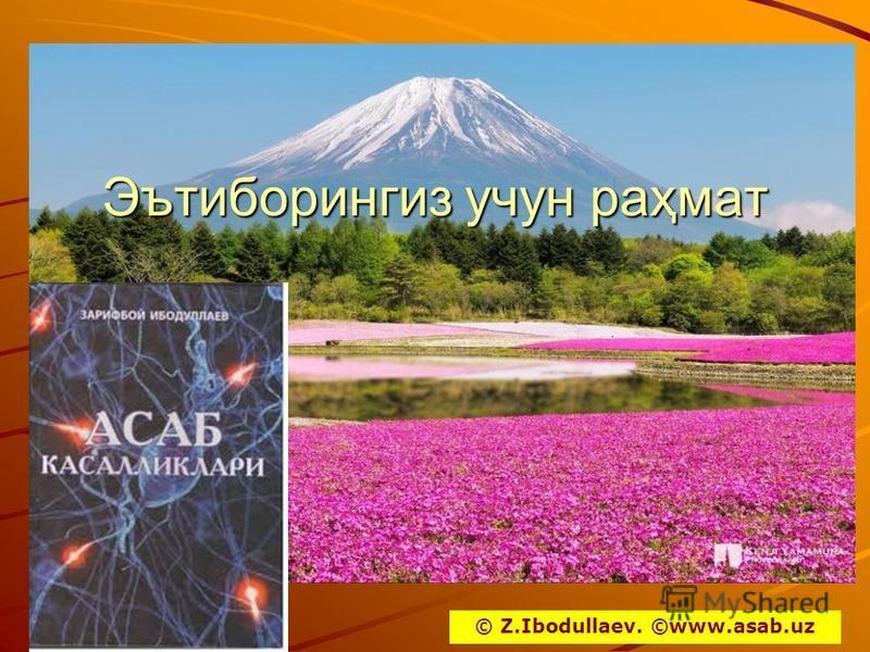 Эътипорингиз учун раҳмат © Z.Ibodullaev. ©www.asab.uz