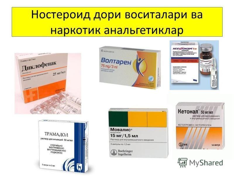 Ностероид дари воситалари ва наркотик анальгетиклар