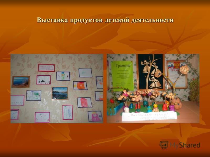 Выставка продуктов детской деятельности