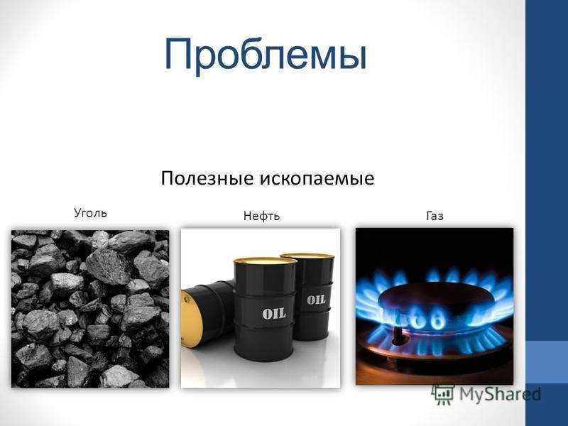 Проблемы Уголь Нефть Газ Полезные ископаемые