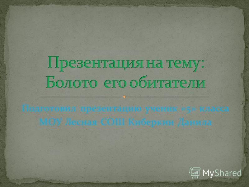 Подготовил презентацию ученик «5» класса МОУ Лесная СОШ Киберкин Данила