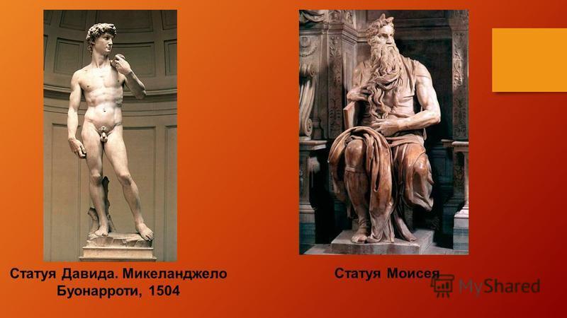 Статуя Давида. Микеланджело Буонарроти, 1504 Статуя Моисея