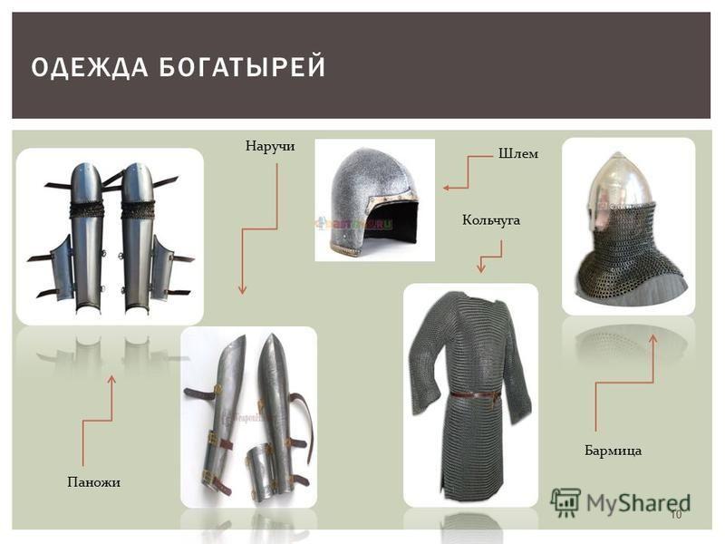 ОДЕЖДА БОГАТЫРЕЙ Паножи Наручи Шлем Кольчуга Бармица 10