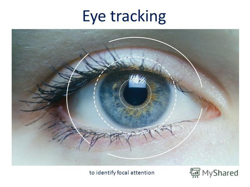 Eye tracking to identify focal attention