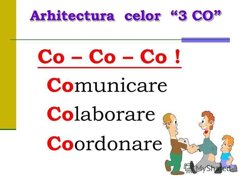 Co – Co – Co ! Co municare Co laborare Co ordonare Arhitecturacelor3 CO