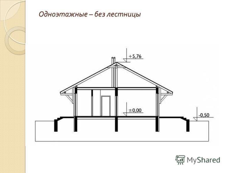 Одноэтажные – без лестницы
