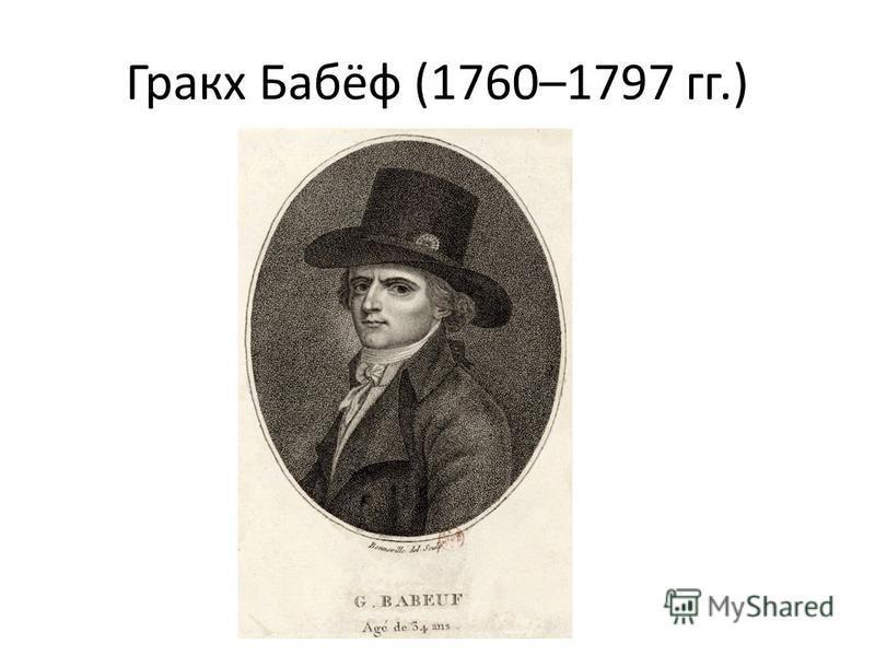 Гракх Бабёф (1760–1797 гг.)
