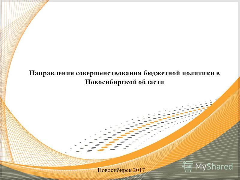 Направления совершенствования бюджетной политики в Новосибирской области Новосибирск 2017