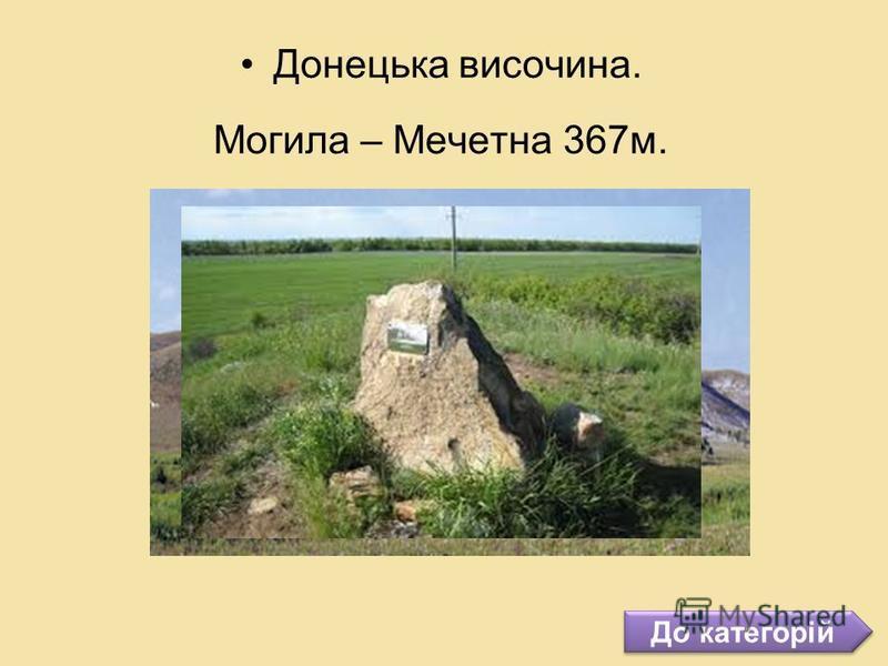 До категорій Донецька височина. Могила – Мечетна 367м.