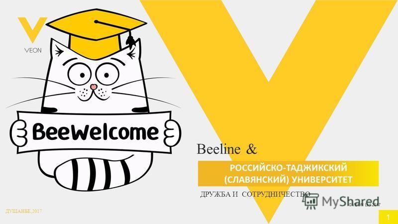 ©VEON Ltd 2017 Beeline & РОССИЙСКО-ТАДЖИКСКИЙ (СЛАВЯНСКИЙ) УНИВЕРСИТЕТ 1 ДРУЖБА И СОТРУДНИЧЕСТВО ДУШАНБЕ,2017
