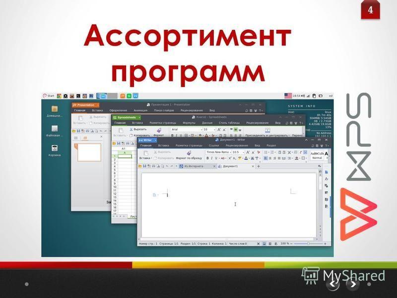 Ассортимент программ 4 4