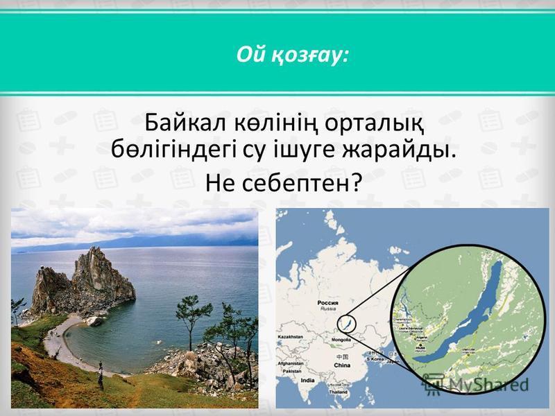 Ой қозғау: Байкал көлінің орталық бөлігіндегі су ішуге жарайды. Не себептен?