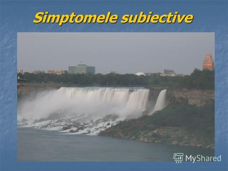 Simptomele subiective