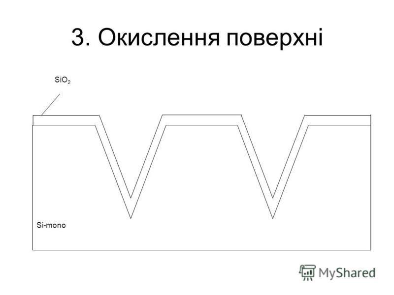 3. Окислення поверхні Si-mono SiO 2