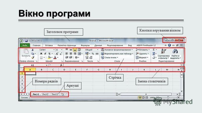 Вікно програми