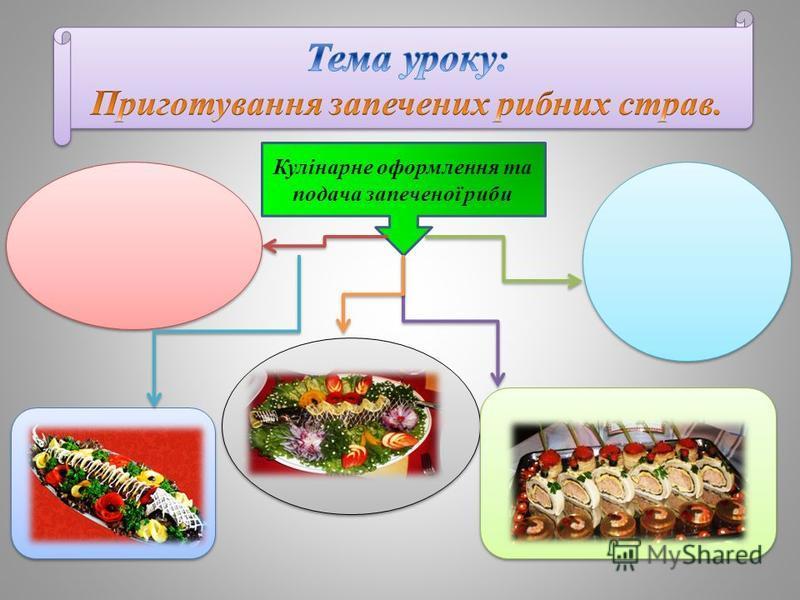Кулінарне оформлення та подача запеченої риби