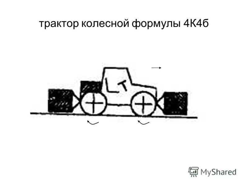 трактор колесной формулы 4К4 б