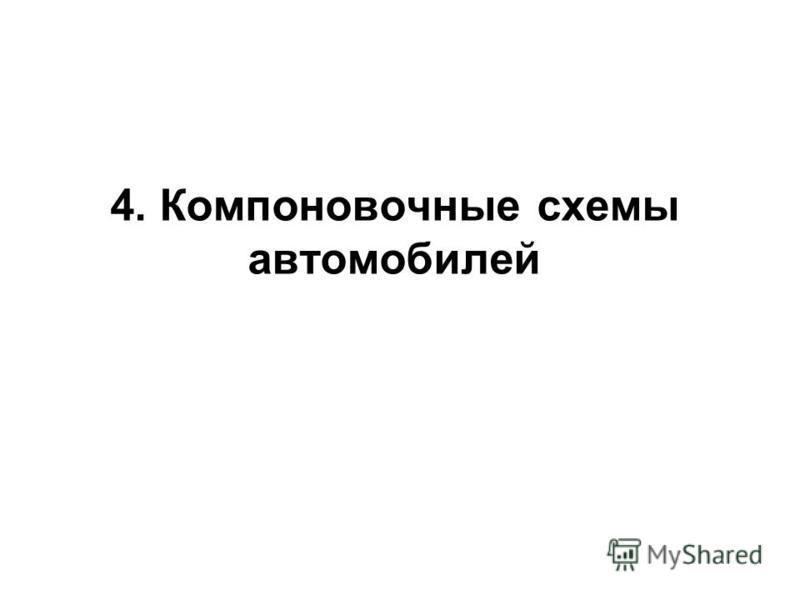 4. Компоновочные схемы автомобилей