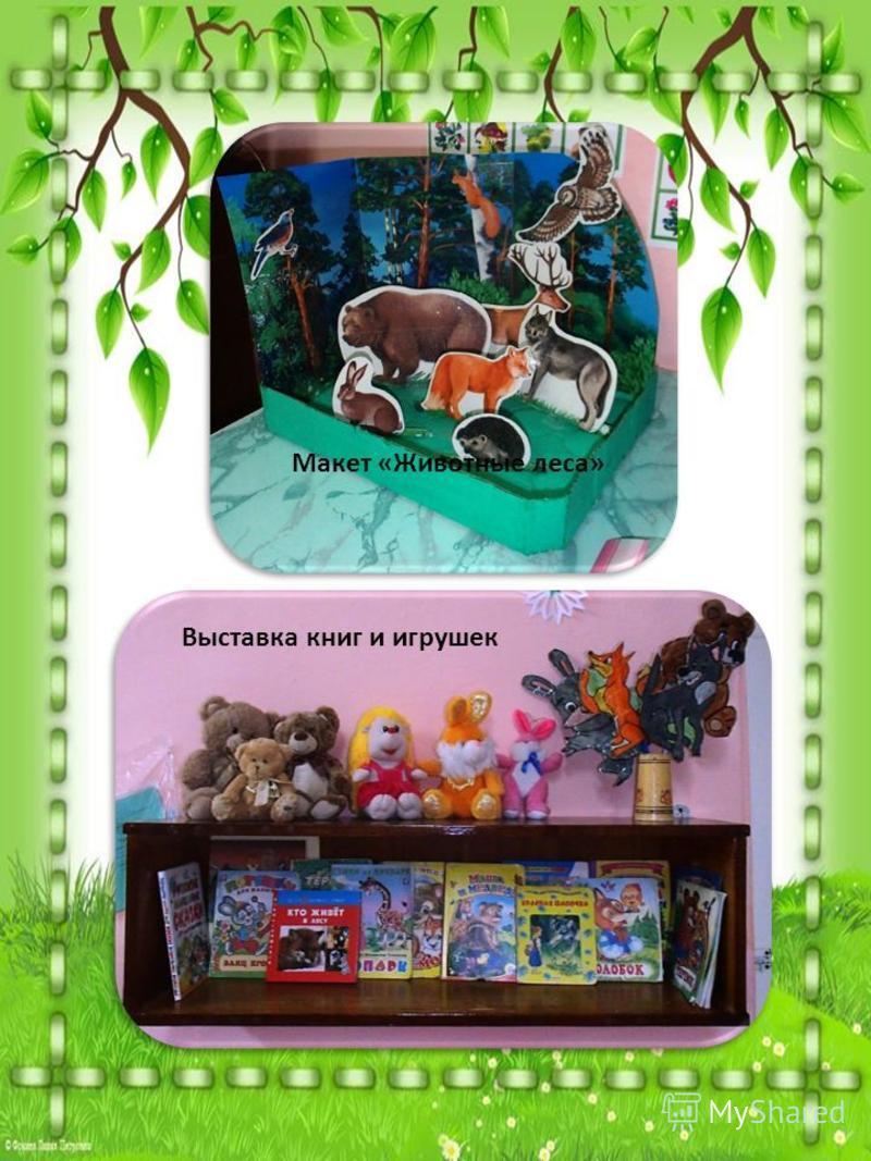 Макет «Животные леса» Выставка книг и игрушек