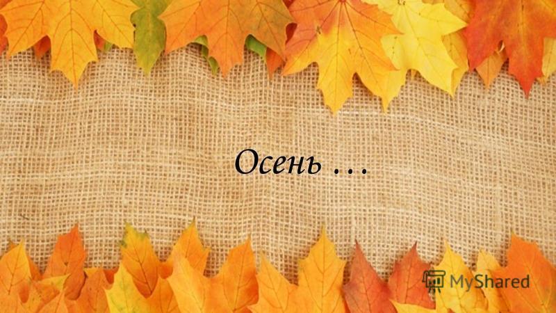 Осень …