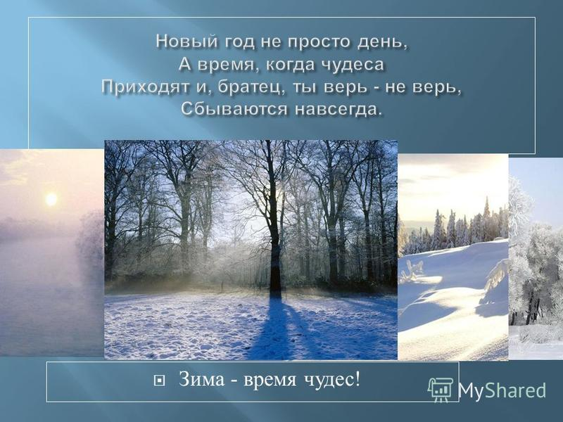 Зима - время чудес !