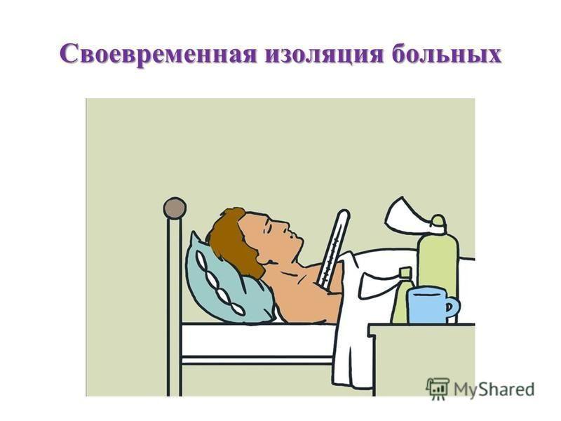 Своевременная изоляция больных