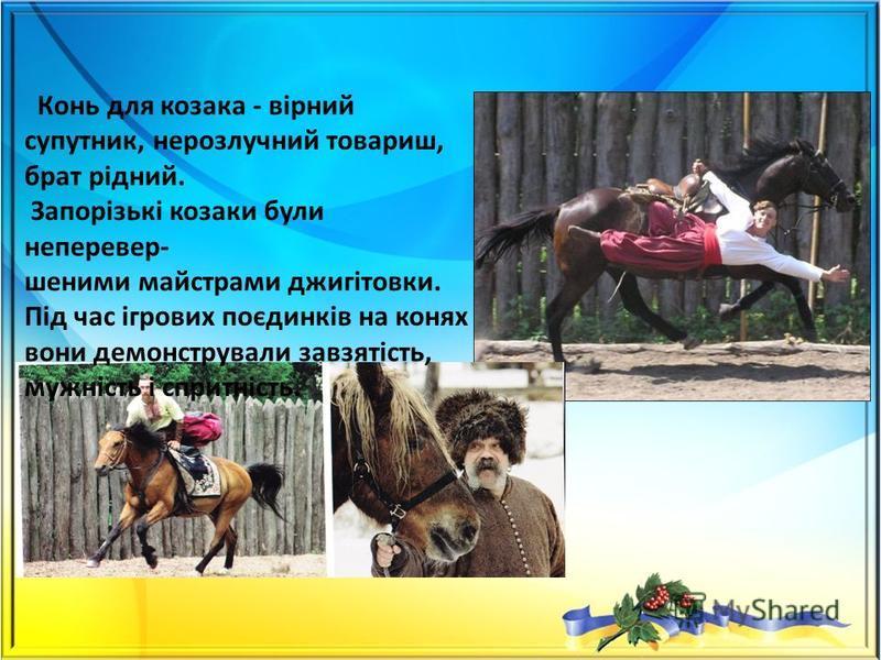 Запорізькі козаки вміло володіли всіма видами зброї. В якості нього нерідко використовували навіть знаряддя праці - коси, сокири, ножі. Нерозлучною супутницею козаків була шабля.
