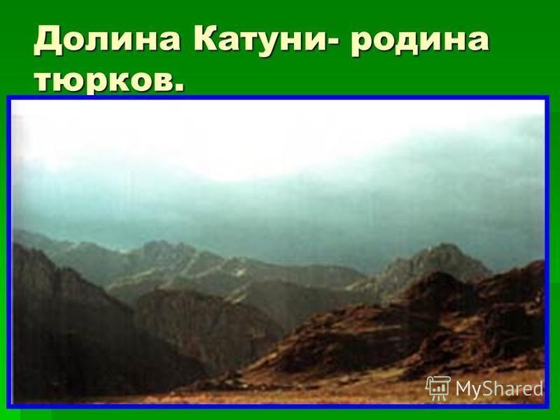 Долина Катуни- родина тюрков.