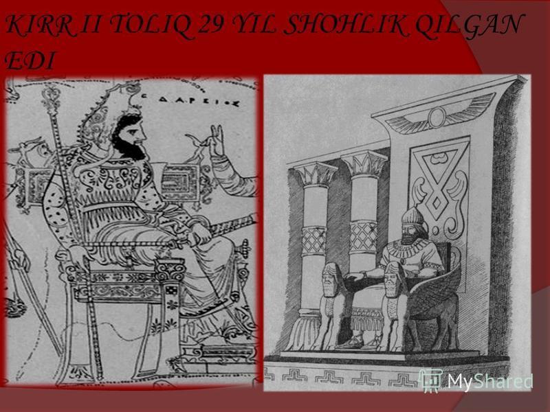 KIRR II TOLIQ 29 YIL SHOHLIK QILGAN EDI