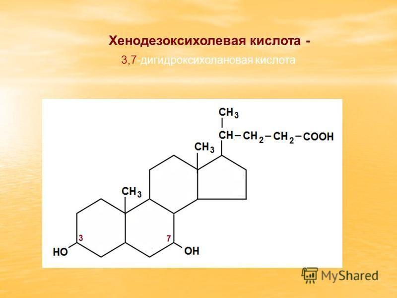 Хенодезоксихолевая кислота - 3,7-дигидроксихолановая кислота