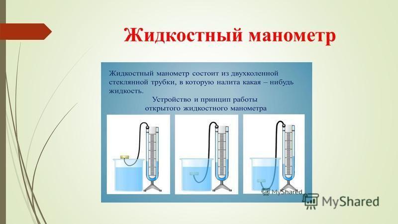 Жидкостный манометр