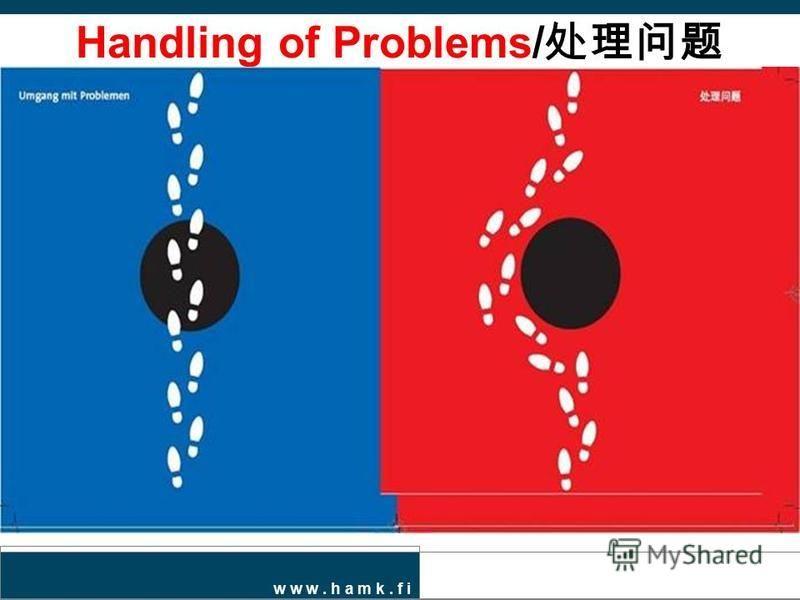 w w w. h a m k. f i Handling of Problems/