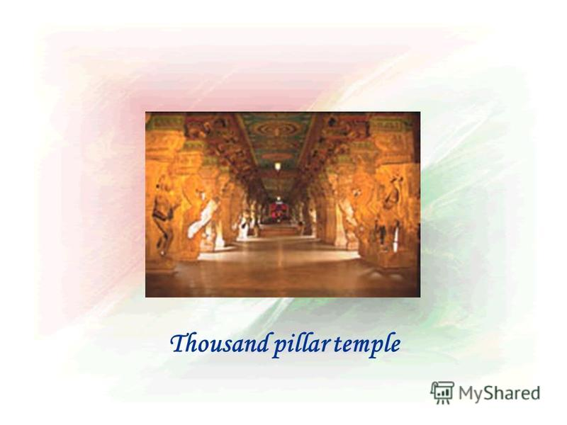 Thousand pillar temple