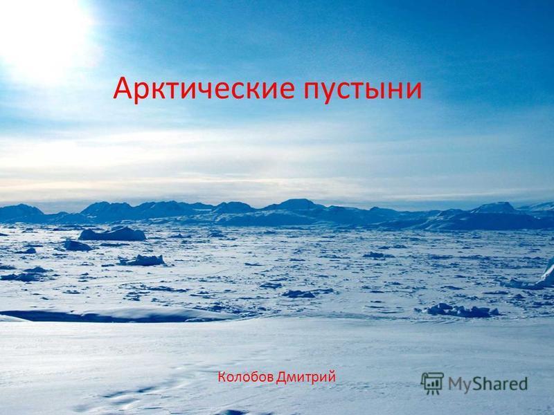 Арктические пустыни Колобов Дмитрий