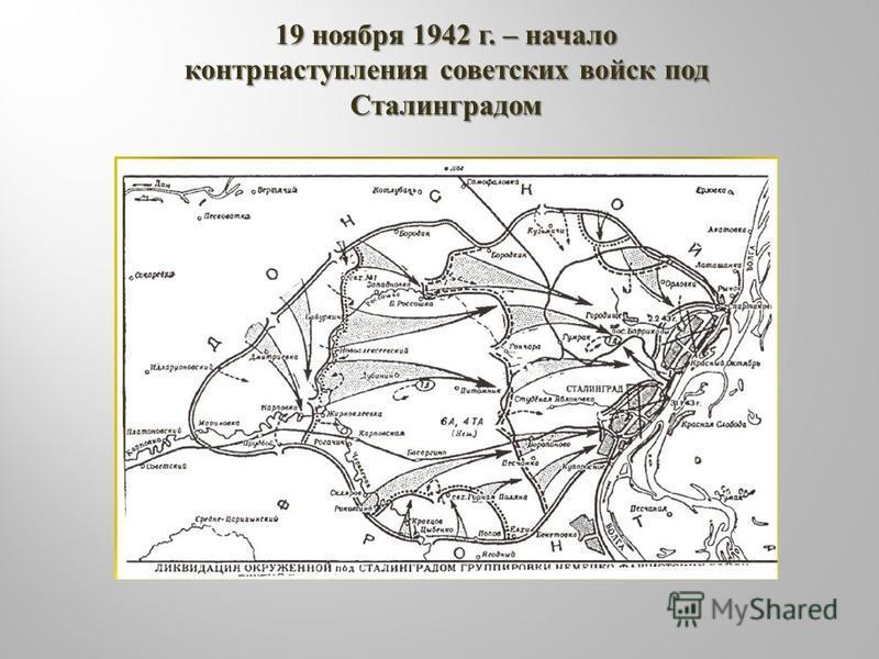 19 ноября 1942 г. – начало контрнаступления советских войск под Сталинградом