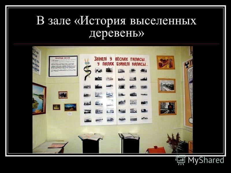 В зале «История выселенных деревень»
