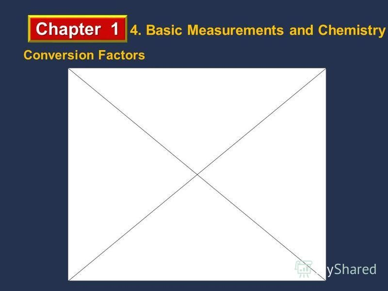Chapter 1 4. Basic Measurements and Chemistry Conversion Factors