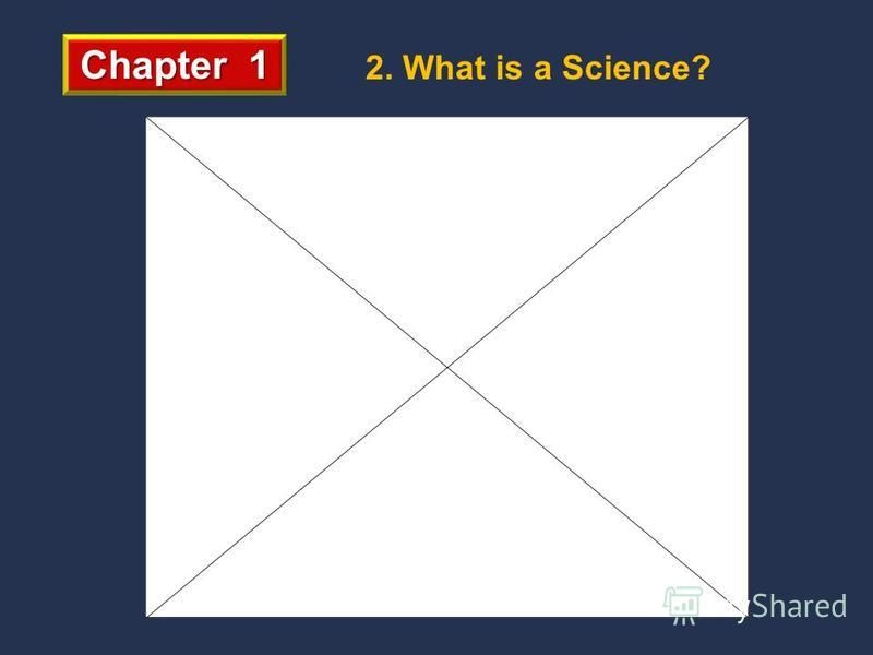 Chapter 1 2. What is a Science?