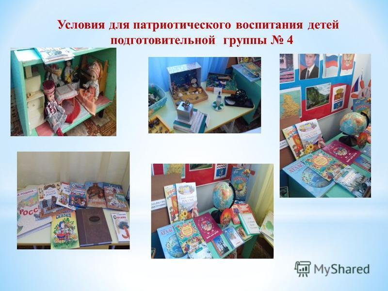 Условия для патриотического воспитания детей подготовительной группы 4