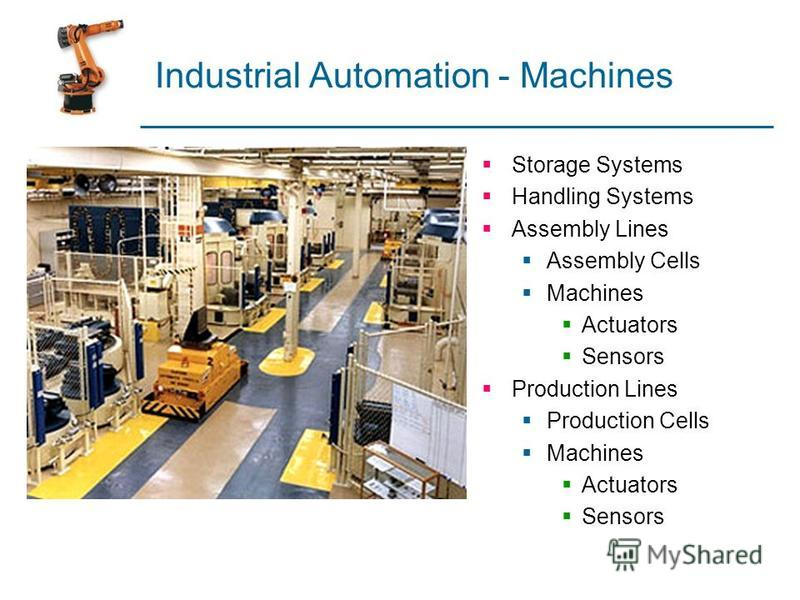 Industrial Automation - Machines Storage Systems Handling Systems Assembly Lines Assembly Cells Machines Actuators Sensors Production Lines Production Cells Machines Actuators Sensors