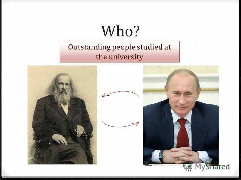 Who? Outstanding people studied at the university