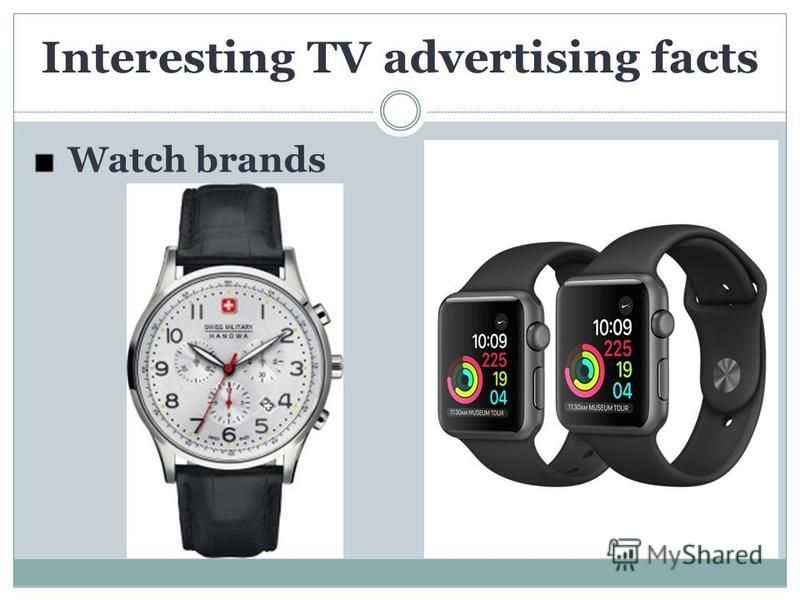 Watch brands Interesting TV advertising facts